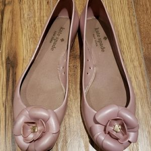 Kate Spade pink jelly flats 7